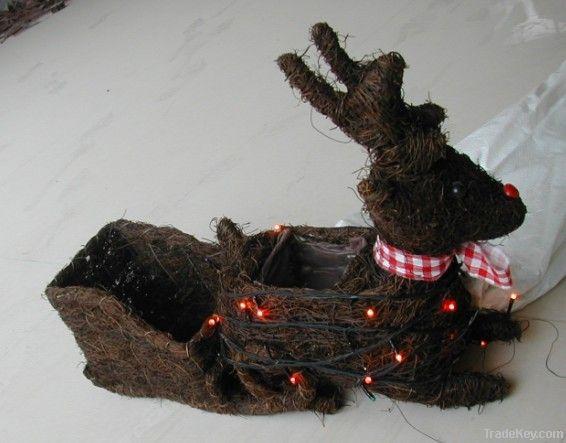christmas decoration/christmas deer/christmas wreath