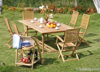 Oiled garden set