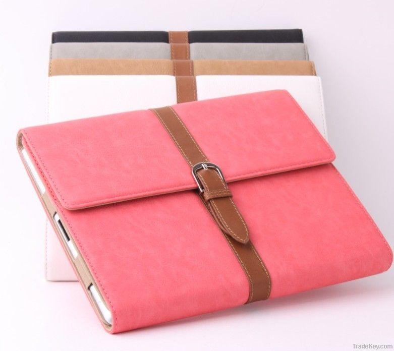 Folio Leather Case For iPad 3