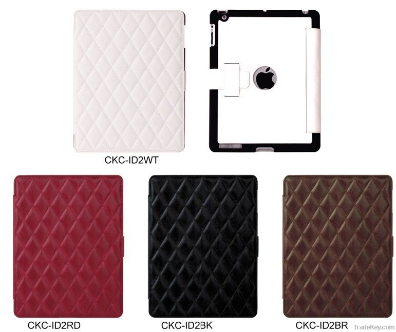 Prestige Embossed Case with Diamond Pattern For iPad 3