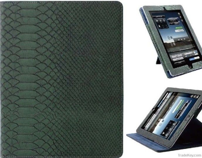 Pearl Gloss Cases with Snake Skin Pattern for iPad 3