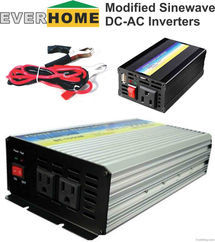 DC-AC SOLAR INVERTER, MODIFIED SINE WAVE, EVERHOME SERIES