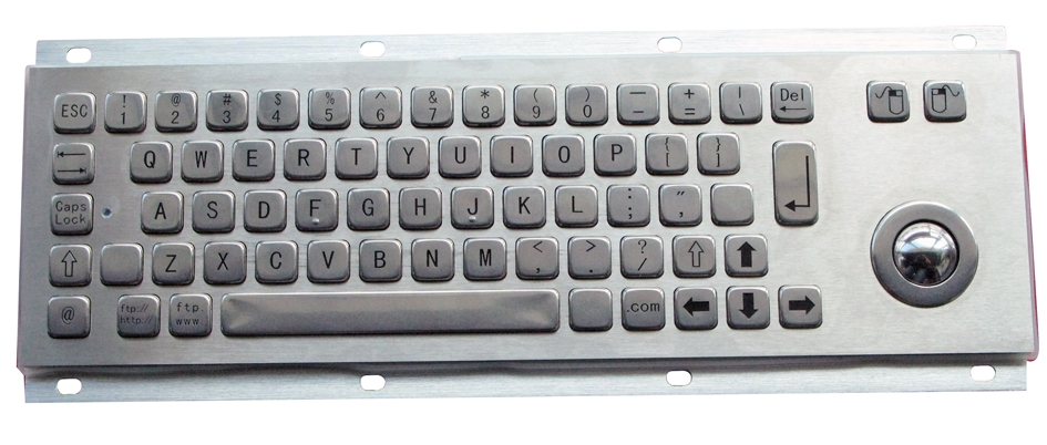 Stainless Steel Integrated Trackball Keyboard