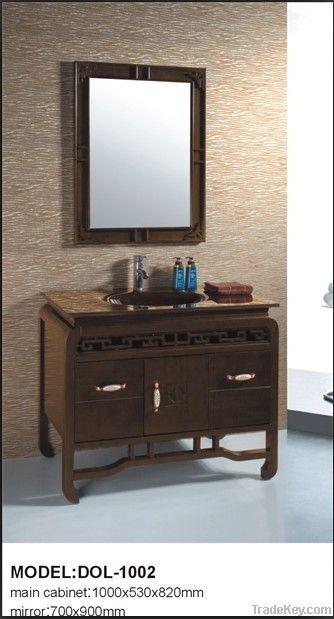 Tawny Solid Wood Bathroom Furniture DOL-1001