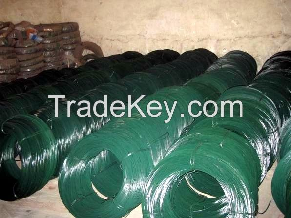 high quality pvc coated binding wire/pvc coated wire(directly factory)