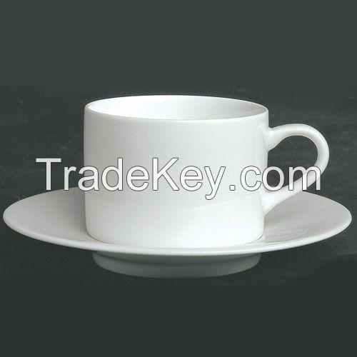 porcelain ceramic cup and saucer set