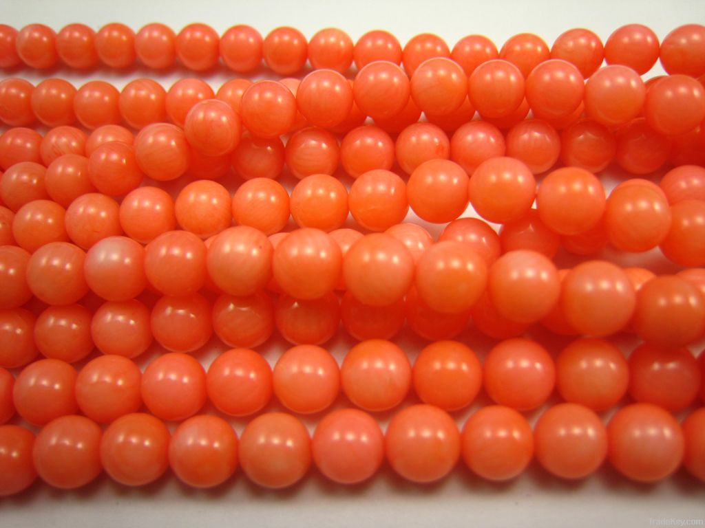red coral bead