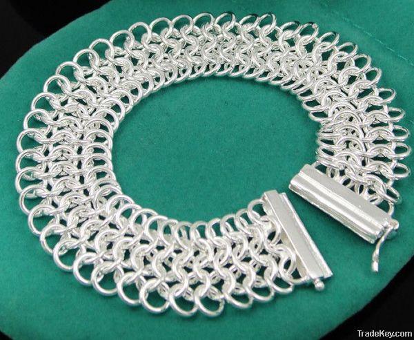 Fast shipping hot sale 925 silve love Bracelet 6inch condition:100% ne