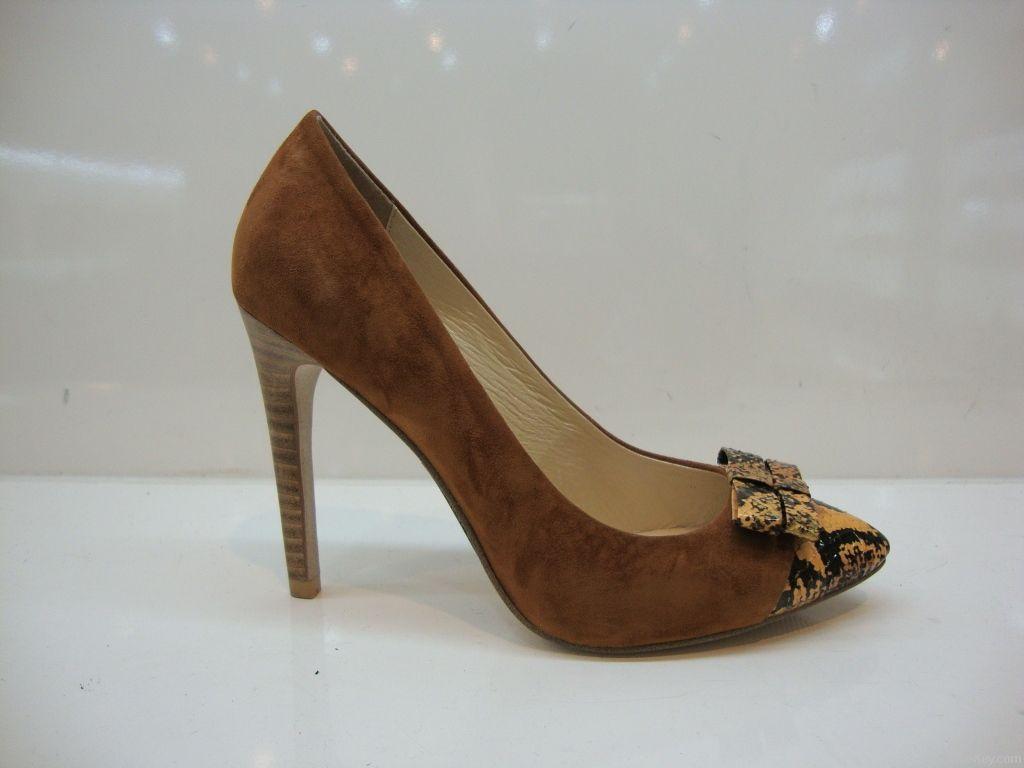 Ladies Black High Heels Pump001