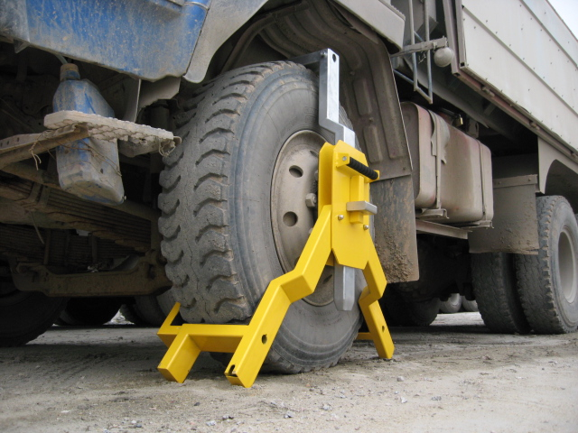 Heavy-duty wheel lock