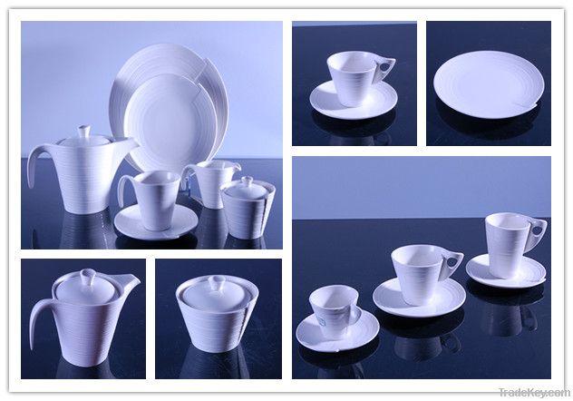 White Porcelain Drinkware Set (Rolling Style)