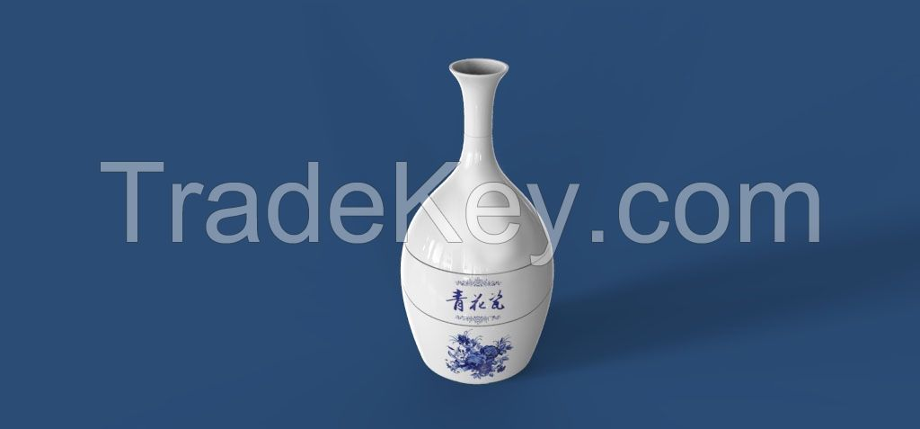 Touch Ultrasonic Aroma Diffuser - Blue and White Vase