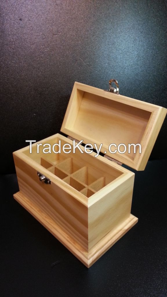 Wooden Essential Oil Box (Holds 8 of 10 ml essential oil bottles)
