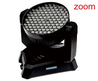 LED Moving Head Light with Zoom, 3W, RGBW