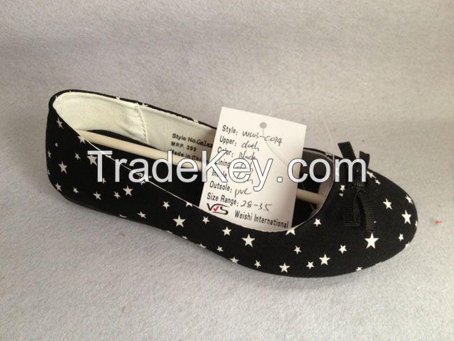 Women's PVC injection Flat shoes;Canvas Shoes Fashion women casual shoes