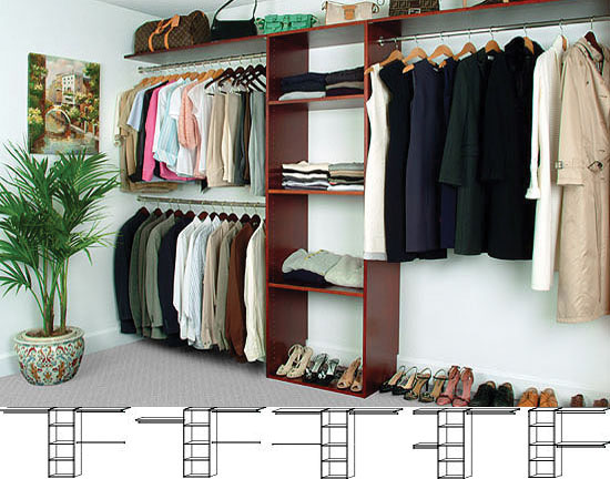 Walk-In Solid Wood Closet Organizers