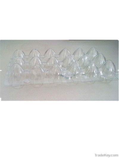 18 cavities transparent PET  quail egg tray supplier
