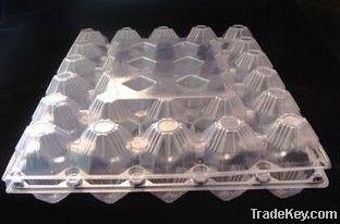 30 cavities transparent PET   egg tray supplier