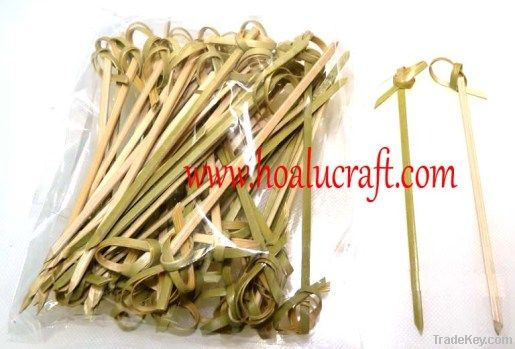 Bamboo knotted skewers