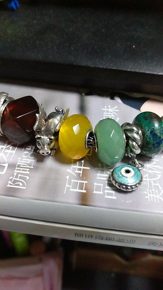 Sterling Silver Core Stone Beads
