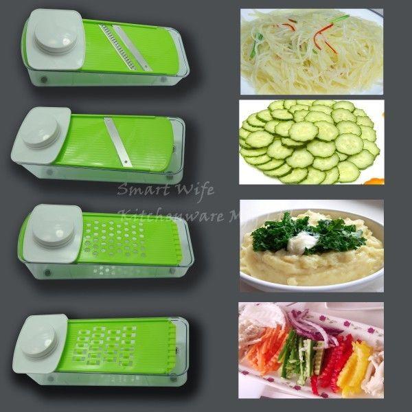 Multi-function stainless steel vegetable slicer set