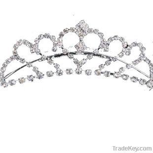 Charming women Wedding Bridal Rhinestone Crystal Hair Comb Tiara 13cm