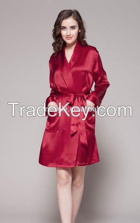 hot sale 2016 factory wholesale 100% mulberry silk pajamas