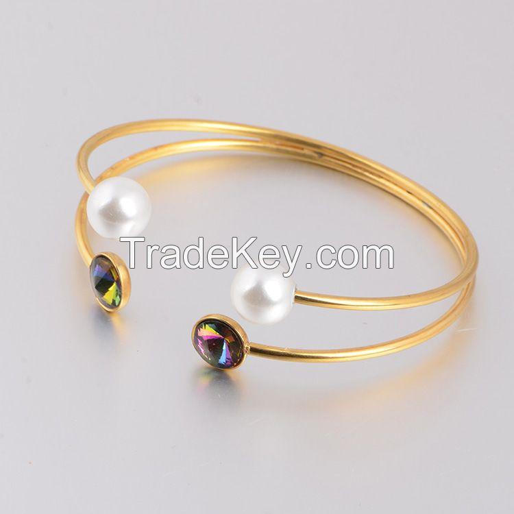 Fashion designer High polish stainless steel cuff bracelets