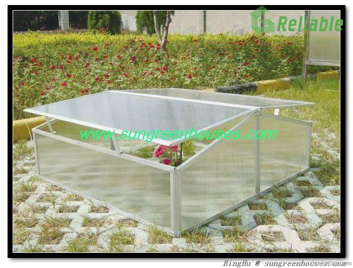DIY MINI Aluminum Greenhouse Kit Cold Frame in Polycarbonate Plastic ...