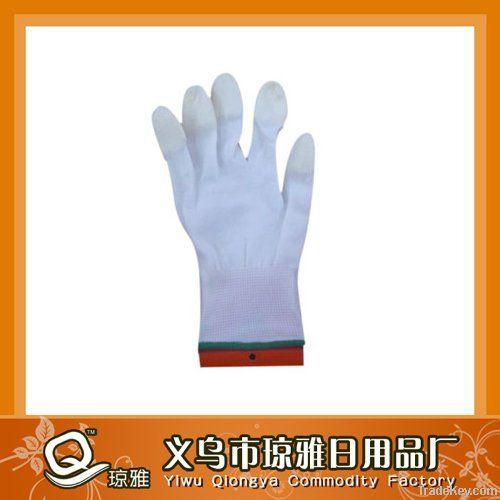 smart blue cuff pu glove -- finger dipped