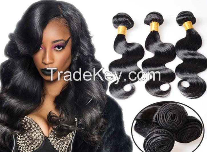 wholesale black color brazilian virgin remy hair false hair,human hair body wave hair curtain 100g