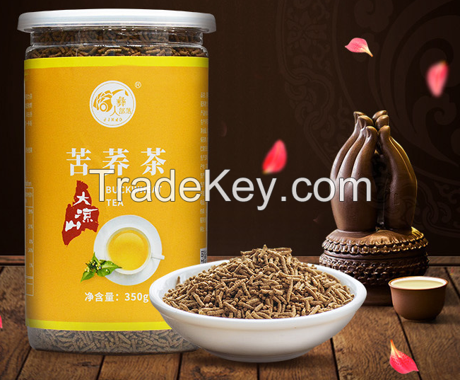 free shipping organic buckwheat granule tea with tiny with tin package tartary king of the coarse food grain good for Diabetes