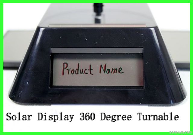 Solar Power Display 360 Degree Turnable Plate