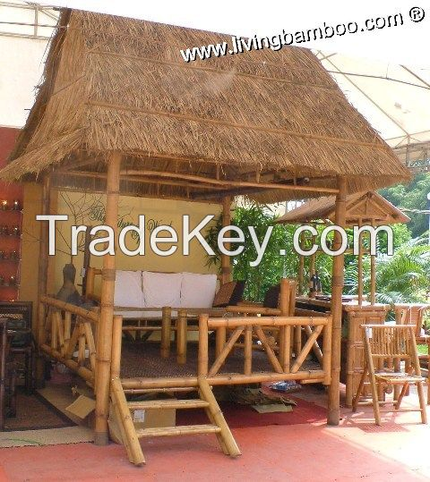 Bamboo gazebos for outdoor living, feeling fresh with nature