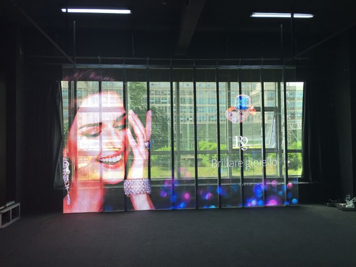 Transparent LED Display For Glass Wall and Glass Windows of Retail Stores and stage background