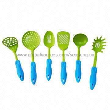 Cooking Tool Set, Kitchen Tool Set, Silicone Head with Stainless Steel Handle