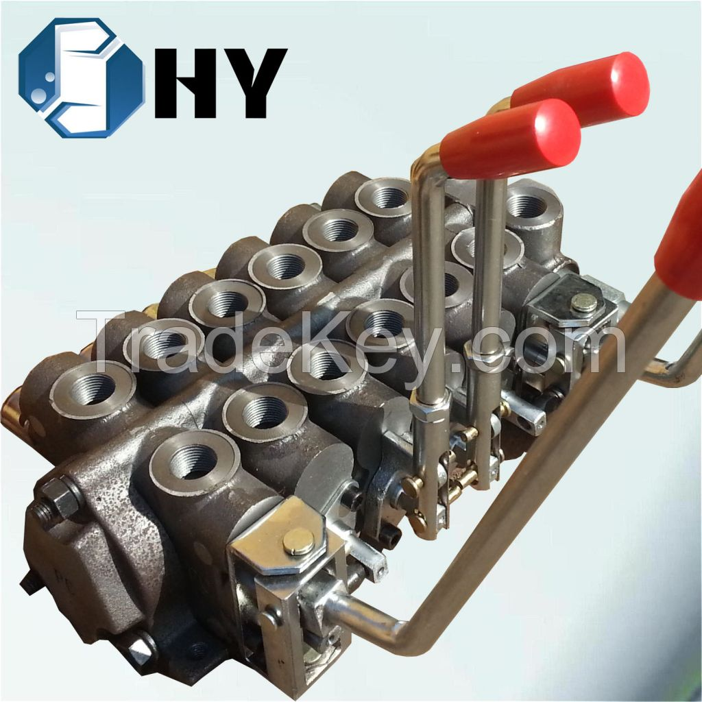 4 Spool Hydraulic Directional Control Sectional Lever Valve Handle for Forklift Loader