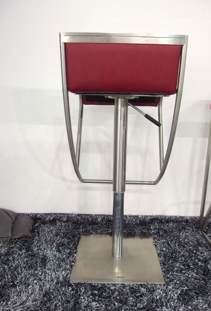 brushed steel bar stool bar chair