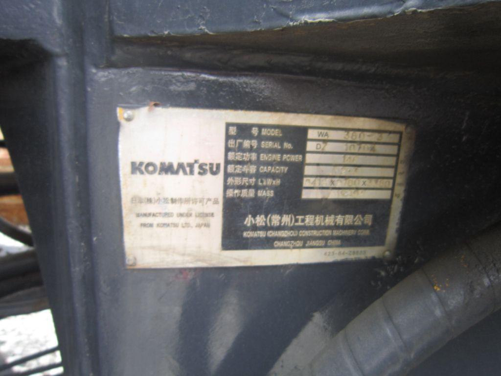 Used komatsu loader wa380
