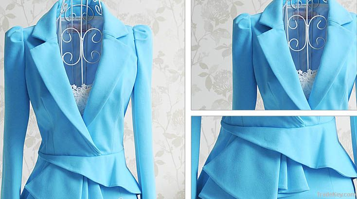 2012 the most popular fashion high temperament blue dress