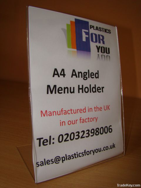 A4 COUNTER POSTER ACRYLIC LEAFLET MENU HOLDER RETAIL SHOP DISPLAY STAN