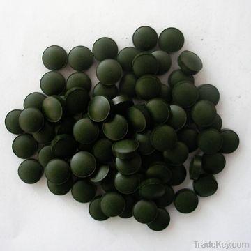 Natural organic spirulina tablet