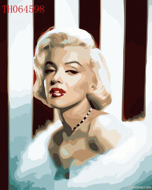 numeric oil painting -- keep watch /Marilyn Monroe/dancer of swan/bash