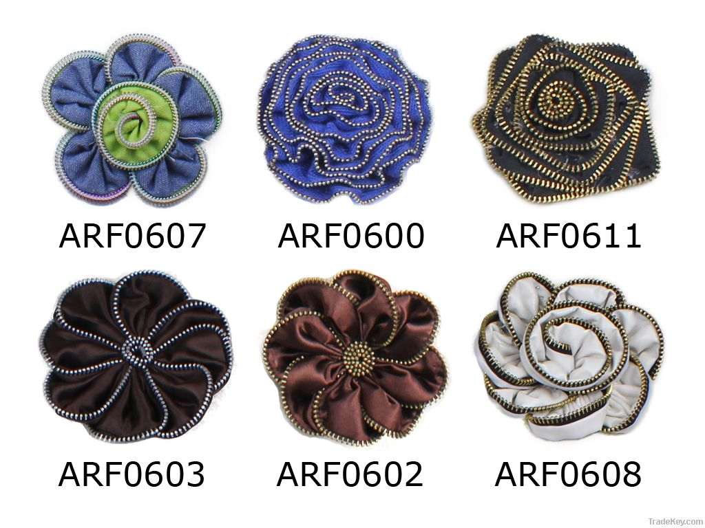offer handmade zipper flower garment accessories