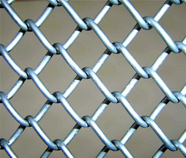 Chain Link Fencing with round tube frame