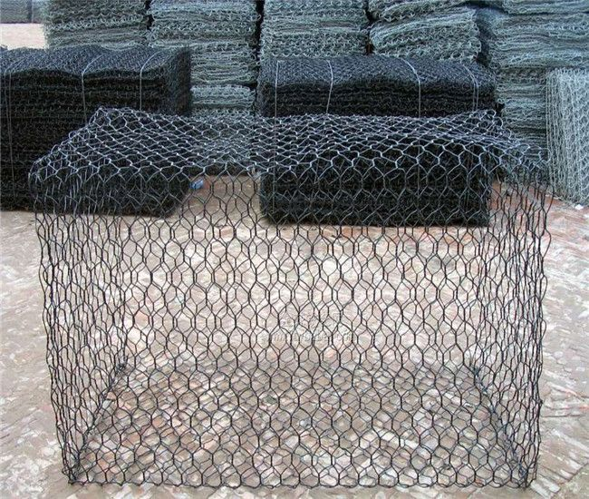 facotry price galvanized Anping hexagonal mesh gabion box