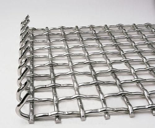 Stainless Steel Silver Crimped Wire Mesh