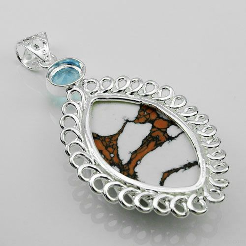 Cheap fashion pendants gemstone 925silver jewelry turquoise pendant