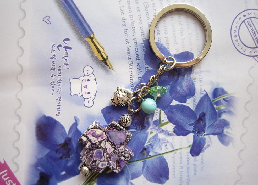 Handmade Gemstone Key Rings