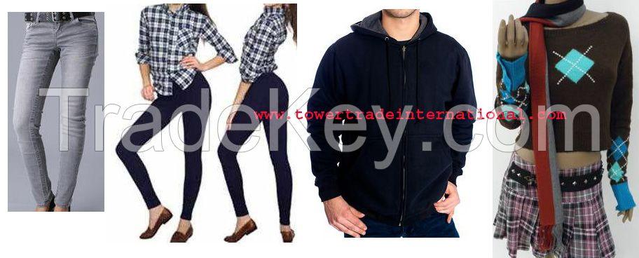 Apparel Stock Lot - Jeans Shirts Pant T-Shirt Polo Shirt khaki Trouser